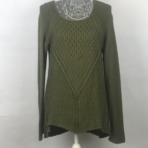 Knot Sisters Cable Knit Tunic Pullover Sweater L